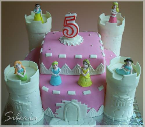 Замок принцесс диснея детские торты
