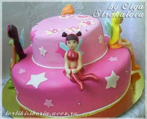 Винкс детские торты фотоальбом мой